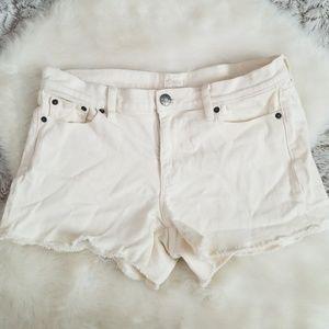 J. Crew Ivory Denim Shorts